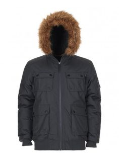 Fixed hood with drawstringFaux fur trim and faux shearling hood liningZip through front with button fasteningFront utility pocketsFull length sleeves with pocketCinched waist with drawstring. Canada Goose Jackets, Parka, Layering, Knight, Hooded Jacket, Hoods, Charcoal, Winter Jackets, Coat