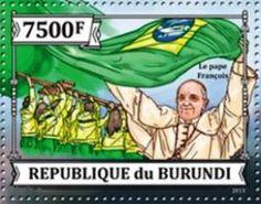 2015 República de Burundi - Visita del Papa Francisco a Brasil