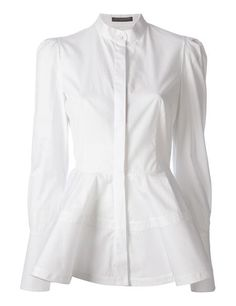 ALEXANDER MCQUEEN flared shirt - was $1085.0, now $760.0 (30% Off). Picked by thehelga @ FarFetch.com