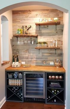 Amazing Modern & Functional Kitchen Bar Design Ideas - Home Decor Coffee Bar Home, Kitchen Remodel, Kitchen Decor, Home Decor, Bars For Home, New Kitchen, Mini Bar, Home Kitchens, Kitchen Design
