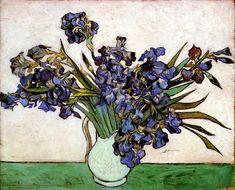 Vase with Irises by @artistvangogh #postimpressionism