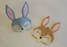 Danny and Johnny  Easter Bunny Mask and tail  for Pretend Play