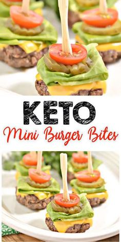Low carb keto mini burger bites idea - quickly and easily . Low Carb Keto Mini Burger Bites Idea – Quick and Easy … – Keto Recip - Lunch Snacks, Keto Snacks, Clean Eating Snacks, Lunch Recipes, Breakfast Recipes, Dessert Recipes, Smoothie Recipes, Carb Free Snacks, Breakfast Ideas