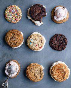 Ice cream stuffed cookies
