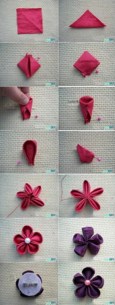 DIY Tutorial DIY JEWELRY / DIY Tutorial: Tutorials for My Hair Accessories / How to make satin fabric flower - Bead - Bead&Cord