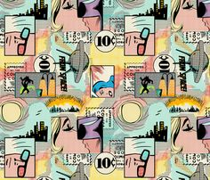 Comic Books fabric by thirdhalfstudios on Spoonflower - custom fabric