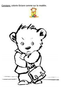 Colorie Octave - Non, non et non Grande Section, Petite Section, Album, Montessori, Activities For Kids, School, Children, Books, Peda