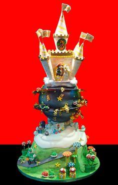 Super Mario Nintendo wedding cake made at Christopher Garren's Let Them Eat Cake.