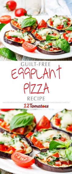 Eggplant Pizzas | Sliced eggplant is the perfect foundation for all of the saucy and cheesy deliciousness of a typical pizza, yet offers a healthy alternative that you don't have to feel guilty about.