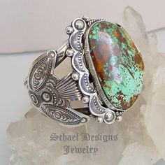 Art Tafoya Blue Diamond Turquoise & Sterling Silver Cuff Bracelet | online upscale native American jewelry boutique gallery| Schaef Designs Southwestern turquoise Jewelry | New Mexico