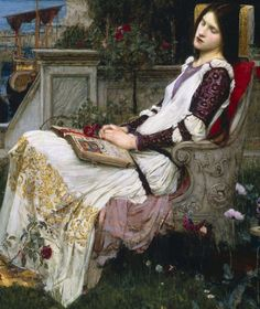 John William Waterhouse  'Saint Cecilia' c.1895 (detail) ... #paintingsdaily #historyofart #arthistory #art