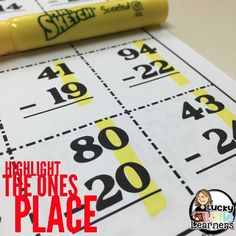 Lucky Little Learners: Subtraction with Regrouping Strategies
