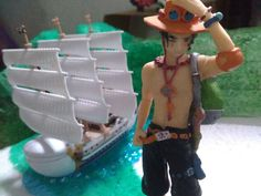 Ace and Moby Dick from One Piece