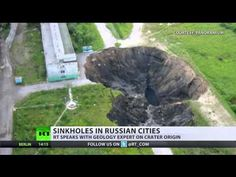 Russia : Mysterious sinkholes spreading across the Russian Urals (May 25, 2015) - YouTube
