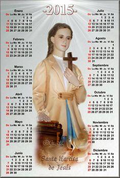 Vidas Santas: Calendario de Santa Narcisa de Jesús, 2015