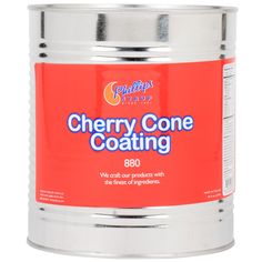 Add mouth watering flavor and texture to your ice cream cones with this cherry cone dip! Designed for adherence to cones, ice cream, and fruit, you can customize any order and give your customers an original sweet treat. Simply dip a cone into the cherry liquid and let it dry. In a few moments, the liquid will harden and your treat will be ready to serve! You can also top off any dish of soft serve by drizzling and letting it harden on the surface to create a crunchy shell. Add a spoonful…
