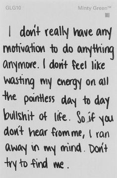 This is sorta how I feel. I want to do what I WANT with my life, not what I'm supposed to do.