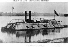 ACW Photo: USS Carondelet (1862-1865), a 512-ton Cairo class ironclad river…