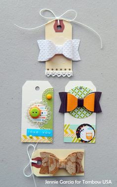 Make your own DIY Embellishments using Tombow Adhesives and supplies you already have at home!