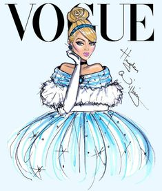 Disney Divas by Hayden Williams for Vogue, Cinderella from Cinderella #cinderella #disneyprincess