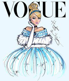 Disney Divas by Hayden Williams for Vogue, Cinderella from Cinderella #cinderella #disneyprincess