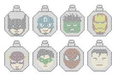 Superhero Inspired Plastic Canvas Ornament Pattern