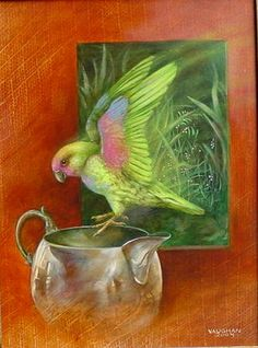 Wendy Vaughan   Parrot and Silver Pitcher