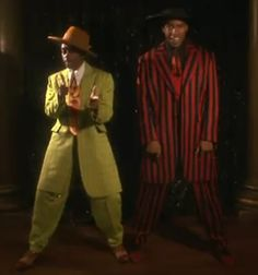 Here's a funny photo of Spike Lee (left) and Denzel Washington (right) in Lee's 1992 film Malcolm X: