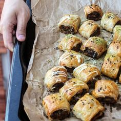 Homemade Sausage Rolls with Mushroom and Melting Cheese!