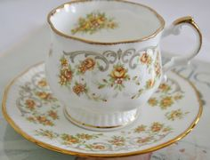 Adorable English cup and saucer with cute little from HomiArticles