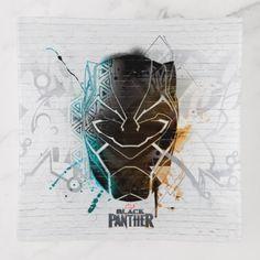 #Black Panther   Dual Panthers Street Art Trinket Trays - #marvel #comics & #movies #gifts