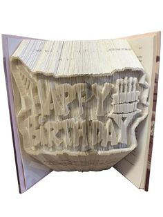 Happy Birthday Combi Cut and Fold Book Folding Pattern                                                                                                                                                                                 More