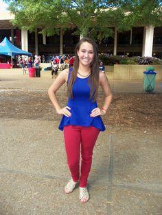 Ole Miss Football, the Grove, Blue dress, Oct. 18, 2014, Ole Miss vs TN, Hotty Toddy Fabulous