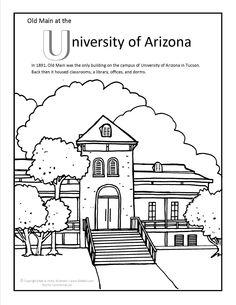 University Of Arizona Old Main Coloring Page At GilaBen