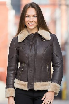 Aviator Sheepskin B3 Bomber Jacket for Women by Cockpit | American ...