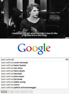Okay so I admire Taylor and she's a wonderful person, but... Maybe she just needs to find The One. :)