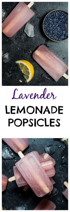These lavender lemonade popsicles are refreshing, fragrant, and not too sweet.