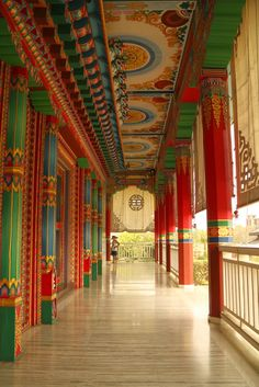 One of the beautiful temples in Lumbini, Nepal.
