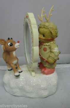 New 2006 Enesco Cherished Teddies Christmas Rudolph and Me Musical Figurine | eBay