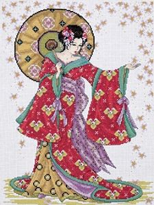 Red Geisha Cross Stitch Kit 2740