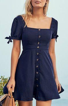 Chances Are Navy Blue Skater Dress - Kleidung online kaufen Simple Dresses, Pretty Dresses, Casual Dresses, Short Dresses, Simple Dress Casual, Elegant Dresses, Casual Outfits, Girly Outfits, Work Casual
