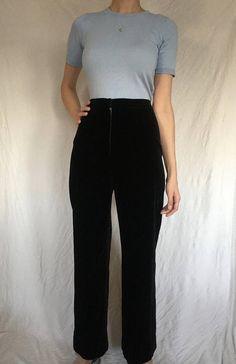 ee0e9fc3 70s Jaeger High Waisted Black Velvet Pants Black Velvet Pants, Vintage  Clothing, Vintage Outfits