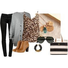 Black, brown gray and leopard