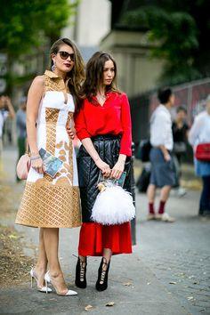 Неделя высокой моды в Париже, осень-зима 2015: street style. День 1 (фото 14)