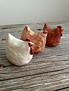 Ceramic Chicken Sculptures Black Australorp by StudioByTheForest
