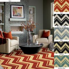 @Overstock - This classic design has been rejuvenated with modern colors and a durable construction. This rug is approximately 0.5 inch plush and is stain and fade resistant.http://www.overstock.com/Home-Garden/Classic-Chevron-Area-Rug-5-x-8/7212906/product.html?CID=214117 $102.59