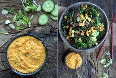 Wakame Miso Soup and Salad