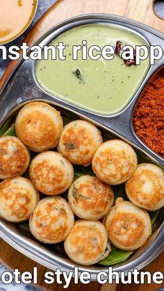 Instant Breakfast Recipe, Rice Breakfast Recipes, Rice Flour Recipes, South Indian Breakfast Recipes, Nashta Recipe, Appe Recipe, Bhaji Recipe, Spicy Recipes, Cooking Recipes