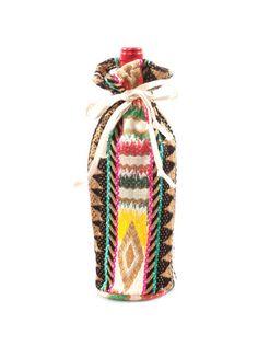 Judith March Aztec Jacquard Wine Bag (Black Multi) – DejaVu