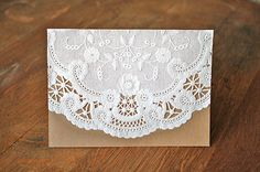 A Diamond in the Stuff: DIY Paper Doily Invitations